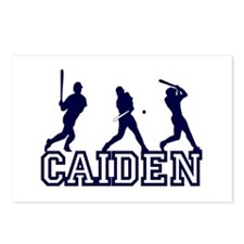 Baseball Caiden Personalized Postcards (Package of