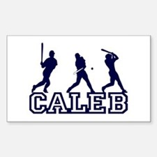 Baseball Caleb Personalized Rectangle Decal