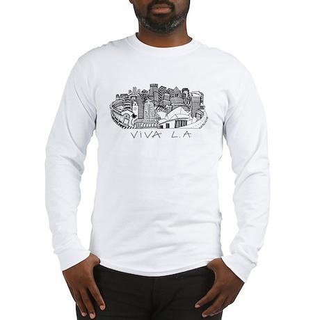 Viva LA in Black White Long Sleeve T-Shirt
