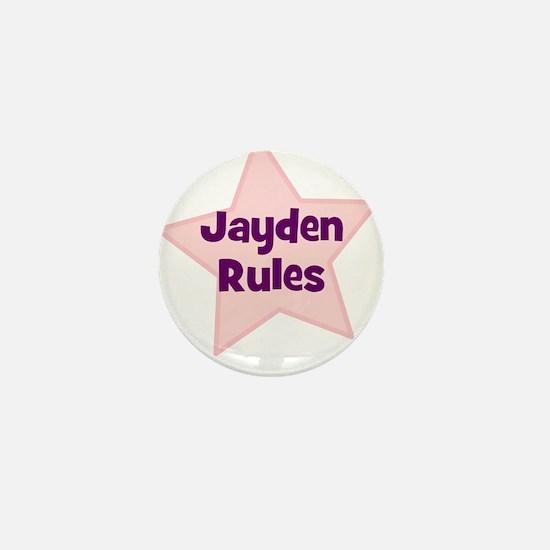 Jayden Rules Mini Button