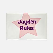 Jayden Rules Rectangle Magnet