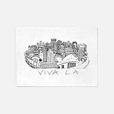 Viva LA in Black White 5'x7'Area Rug
