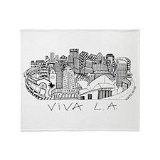 Viva LA in Black White Throw Blanket