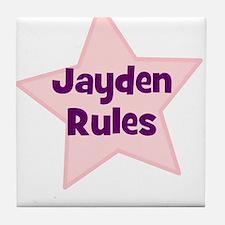Jayden Rules Tile Coaster