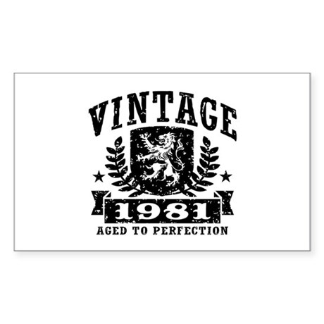 Vintage 1981 Sticker (Rectangle)