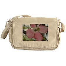 Pink Dogwood Flower Messenger Bag