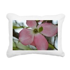 Pink Dogwood Flower Rectangular Canvas Pillow