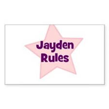 Jayden Rules Rectangle Decal
