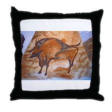 Alta Mira Bison Cave Painting Throw Pillow