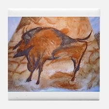 Alta Mira Bison Cave Painting Tile Coaster