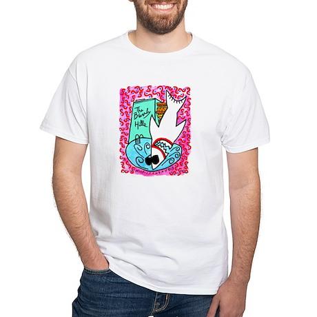 Beverly Hills Shark White T-Shirt