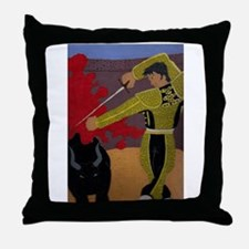 Matador vs bull Throw Pillow