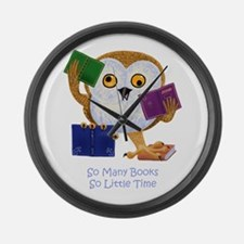 So Many Books So Little Time Large Wall Clock