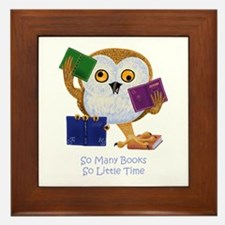 So Many Books So Little Time Framed Tile