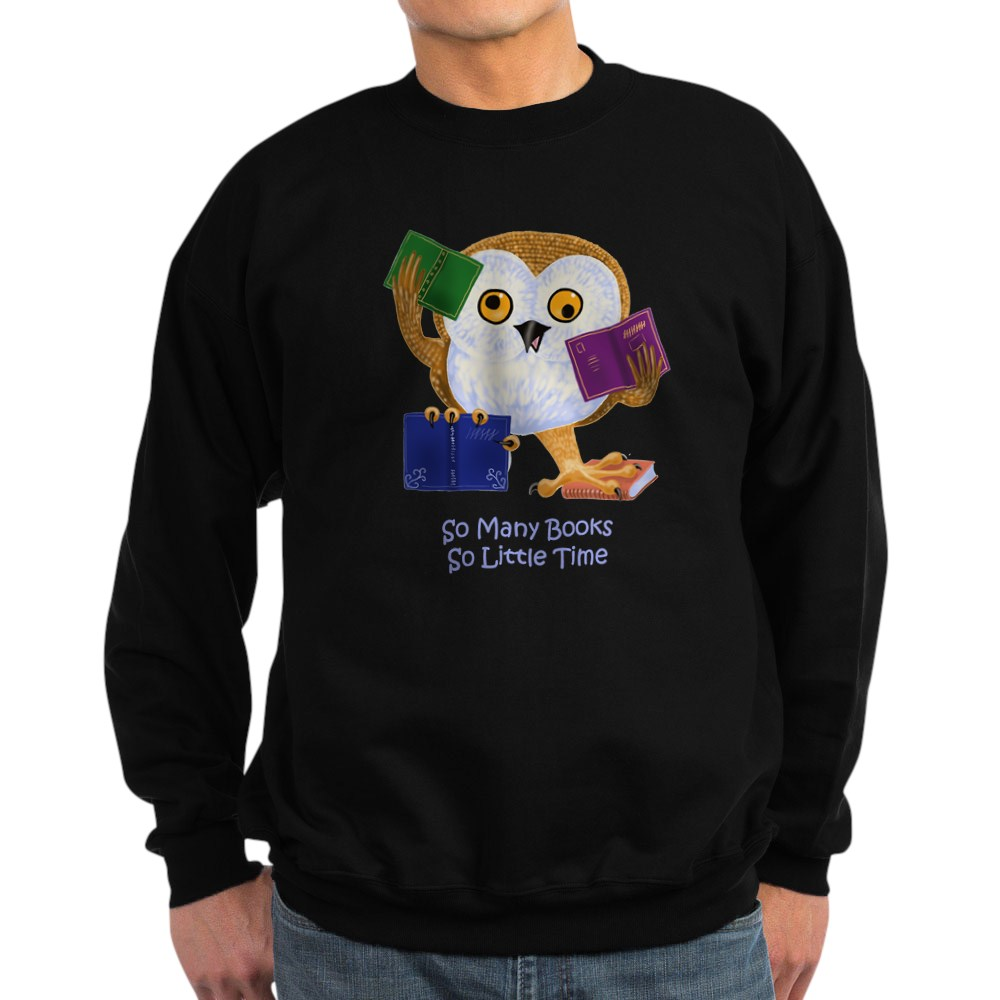 810004611 CafePress So Many Books So Little Time Classic Crew Neck Sweatshirt