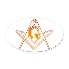 Freemason3 Oval Car Magnet