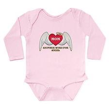 Angel Mom Long Sleeve Infant Bodysuit