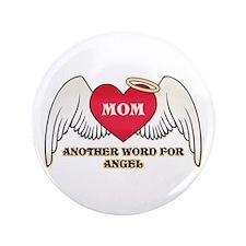 "Angel Mom 3.5"" Button"