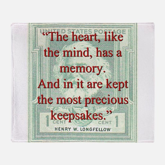 The Heart Like The Mind - Longfellow Throw Blanket