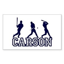 Baseball Carson Personalized Rectangle Decal