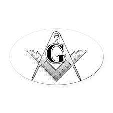Freemason2 Oval Car Magnet