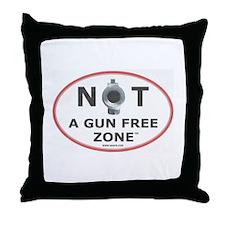 NOT A GUN FREE ZONE Throw Pillow