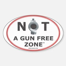 NOT A GUN FREE ZONE Decal