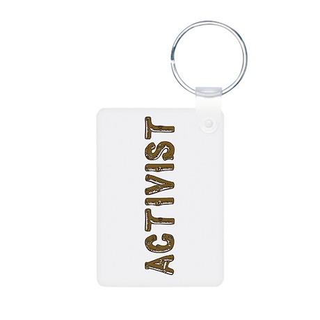 Activist Aluminum Photo Keychain