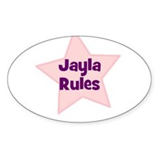 Jayla Rules Oval Decal