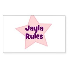 Jayla Rules Rectangle Decal