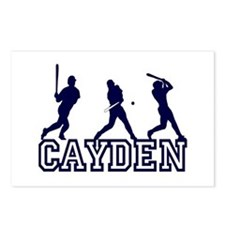 Baseball Cayden Personalized Postcards (Package of