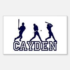 Baseball Cayden Personalized Rectangle Decal