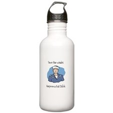 Save the Whales Harpoon a Fat Chick Water Bottle