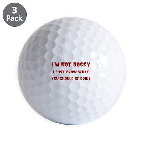 I'm Not Bossy Golf Balls