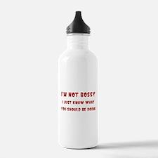 I'm Not Bossy Sports Water Bottle