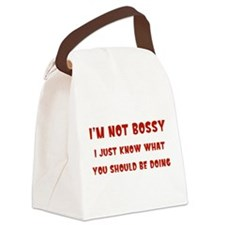 I'm Not Bossy Canvas Lunch Bag