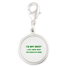 I'm Not Bossy Silver Round Charm