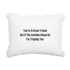 I'm tripping you. Rectangular Canvas Pillow