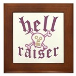 Hell Raiser Funny Framed Tile