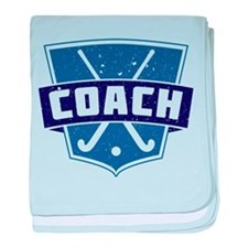 Field Hockey Coach (blue) baby blanket