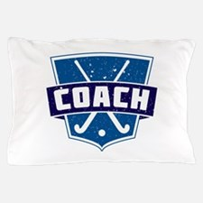 Field Hockey Coach (blue) Pillow Case