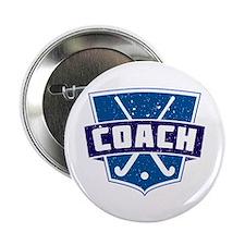 "Field Hockey Coach (blue) 2.25"" Button"