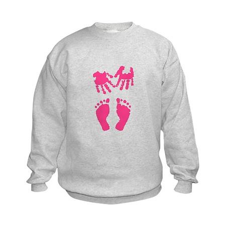 Baby girl love hand and footprint Sweatshirt