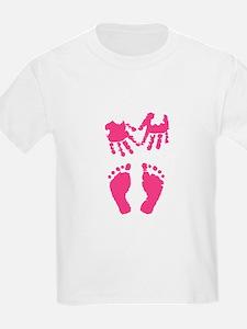 Baby girl love hand and footprint T-Shirt