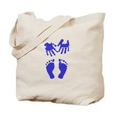 Baby boy love hand and footprint Tote Bag