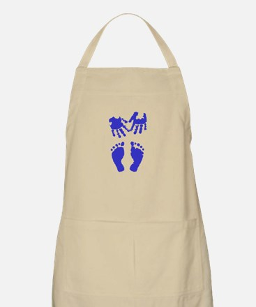 Baby boy love hand and footprint Apron
