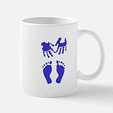 Baby boy love hand and footprint Mug