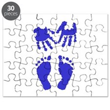 Baby boy love hand and footprint Puzzle