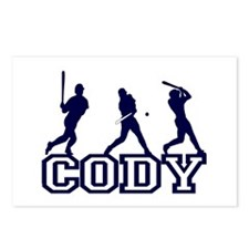 Baseball Cody Personalized Postcards (Package of 8