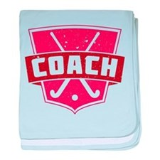 Field Hockey Coach (red) baby blanket